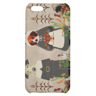 Thanksgiving Dogs Cover For iPhone 5C