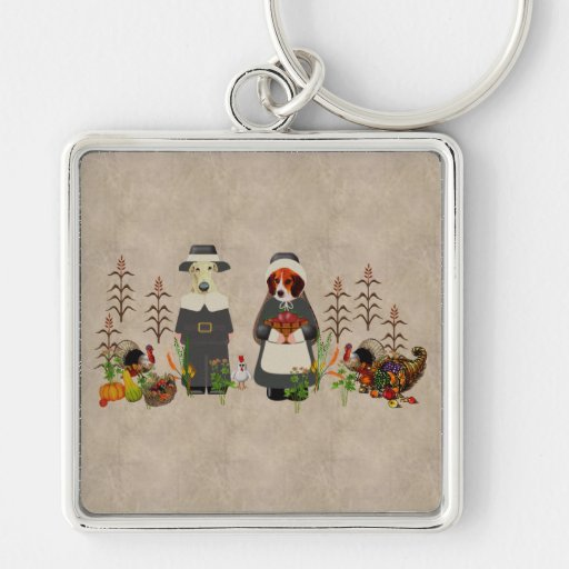 Thanksgiving Dogs Keychains