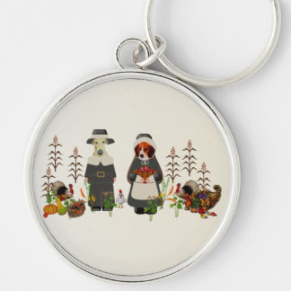 Thanksgiving Dogs Key Chains