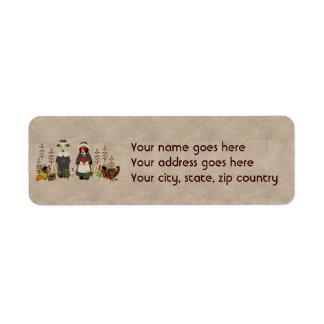 Thanksgiving Dogs Custom Return Address Label