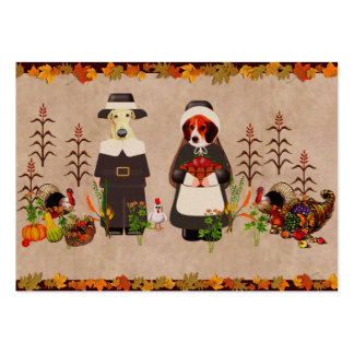 Thanksgiving Dogs Large Business Card