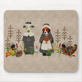 Thanksgiving Dogs Mousepads