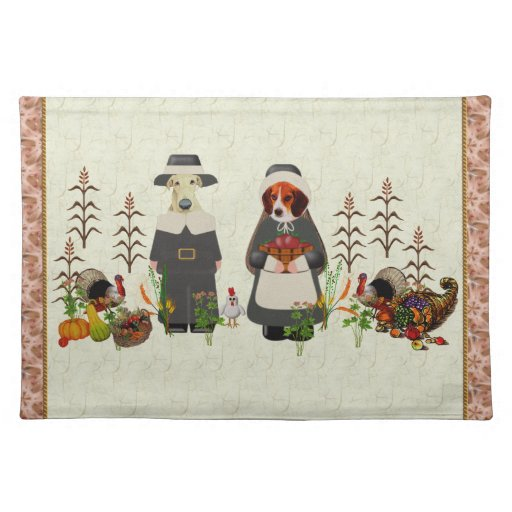Thanksgiving Dogs Place Mats