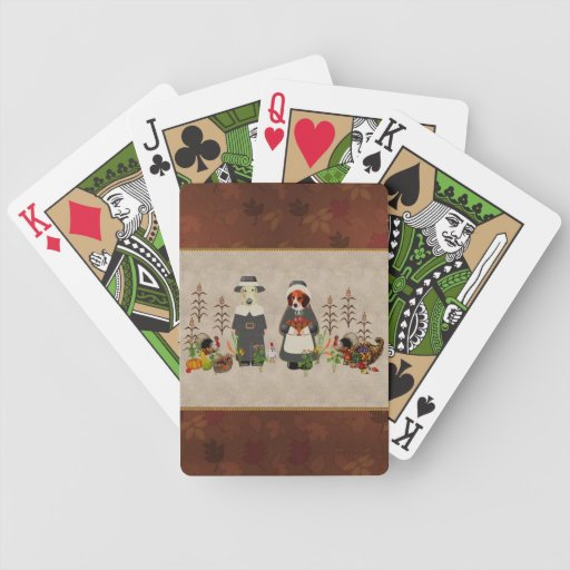 Thanksgiving Dogs Bicycle Poker Cards