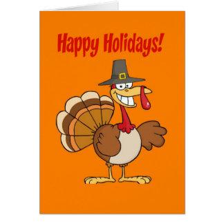 Thanksgiving drôle de la Turquie Carte De Vœux