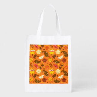 Thanksgiving Fall Autumn Pattern Grocery Bag