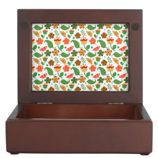 Thanksgiving Fall Autumn Pattern Keepsake Box