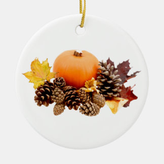 Thanksgiving / fall still life ceramic ornament