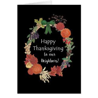 Thanksgiving Fall Wreath to Neighbors Card