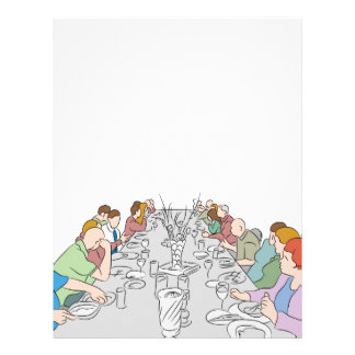 Thanksgiving Family Dinner Table Letterhead