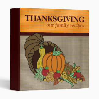Thanksgiving Family Recipes Binder