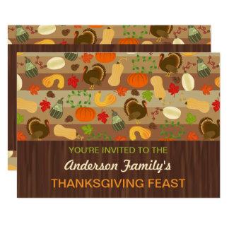 Thanksgiving Feast Fall Dinner Party Autumn Turkey Card
