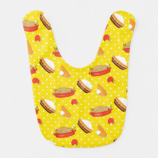 Thanksgiving Feast Food Polka Dots Pattern Bib