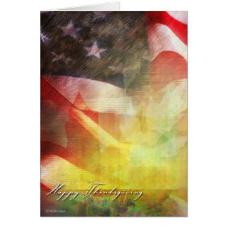 Thanksgiving Flag-Military Thanksgiving card