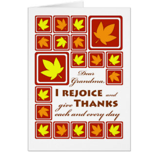 Thanksgiving for Grandma /Grandmother Fall Leaves Card
