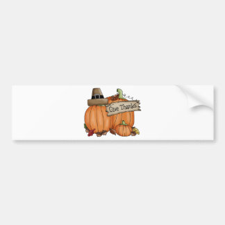 Thanksgiving Give Thanks Bumper Sticker