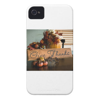 Thanksgiving Give Thanks iPhone 4 Cover