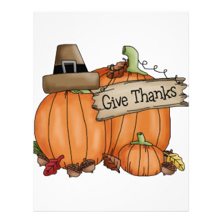 Thanksgiving Give Thanks Letterhead