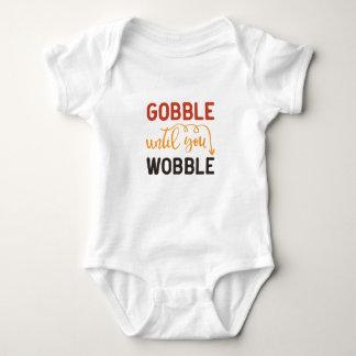 Thanksgiving Goggle Til You Wobble Baby Bodysuit