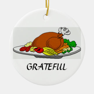 Thanksgiving Grateful Turkey Ornament