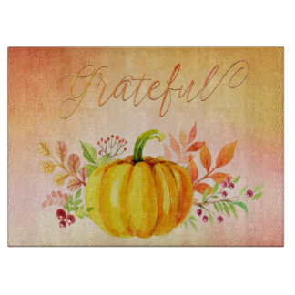 "Thanksgiving ""Grateful"" Watercolors Boards"
