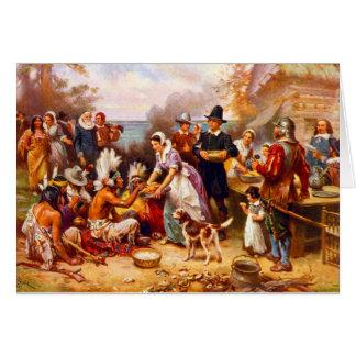 Thanksgiving Greeting Card 1st Thanksgiving Scene