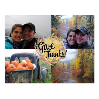 Thanksgiving Greeting Photo Postcard