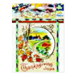 Thanksgiving greeting with scenary post card