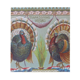 Thanksgiving Greetings 1906 Notepad