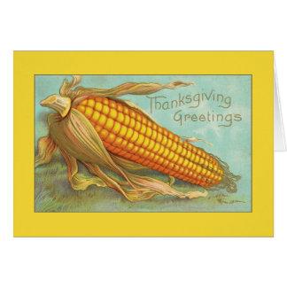 Thanksgiving Greetings Beautiful Corn Greeting Card