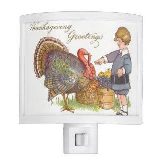 Thanksgiving Greetings Nite Light