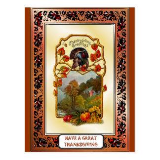 Thanksgiving greetings postcards
