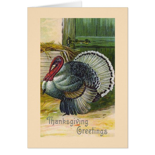 """Thanksgiving Greetings"" Vintage Card"