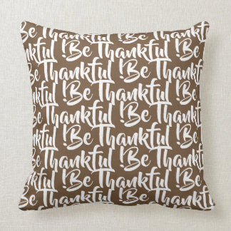 Thanksgiving hand lettering pattern pillow