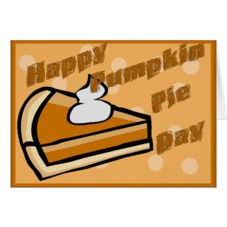 Thanksgiving Happy Pumpkin Pie Day Card