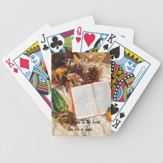 Thanksgiving Harvest and Bible Bicycle Playing Cards
