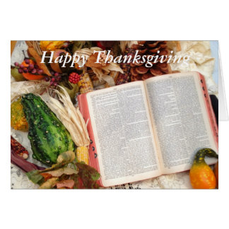 Thanksgiving Harvest and Bible Card