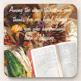 Thanksgiving Harvest and Bible Coaster