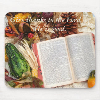 Thanksgiving Harvest and Bible Mouse Pad