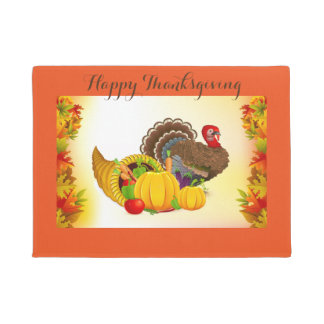 Thanksgiving Harvest Door Mat