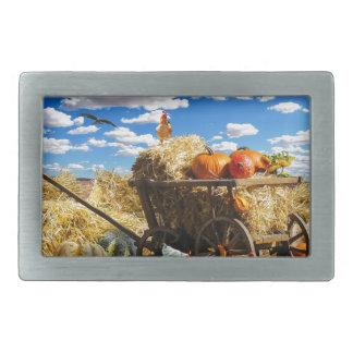 Thanksgiving Harvest Wagon Belt Buckle