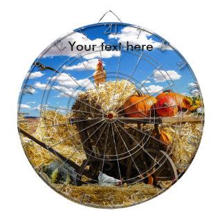 Thanksgiving Harvest Wagon Dartboard
