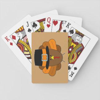 Thanksgiving Hat Turkey - Playing Cards