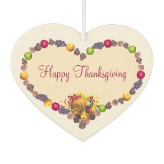 Thanksgiving Heart and Cornucopia Car Air Freshener