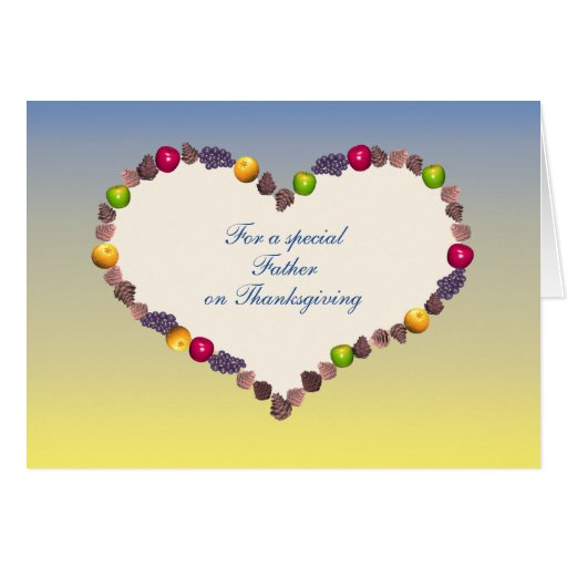 Thanksgiving Heart - For Father Cards