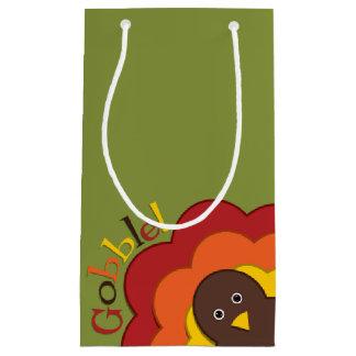 Thanksgiving hiding turkey small gift bag