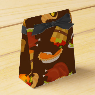 Thanksgiving Holiday turkey dinner party favor box