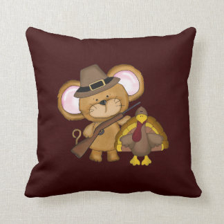 Thanksgiving Holiday Turkey throw pillow