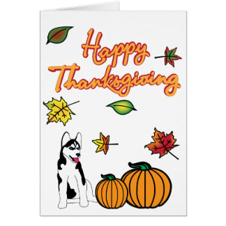Thanksgiving Husky Greeting Card