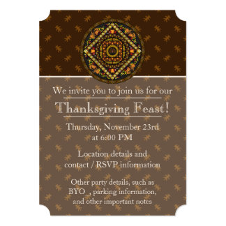 Thanksgiving Icons Party Invitation